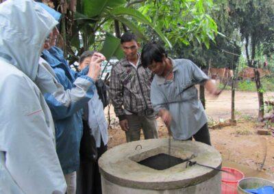 Inauguration d'un puits en 2010