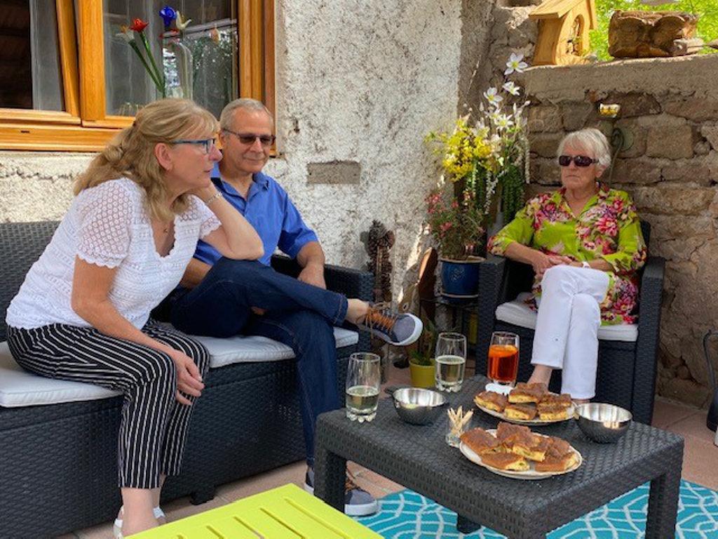 Micheline, François et Claudine