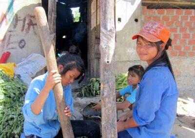Pilage du manioc